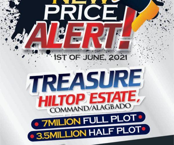 New Price Alert for Treasure Hilltop and Treasure Island Estate